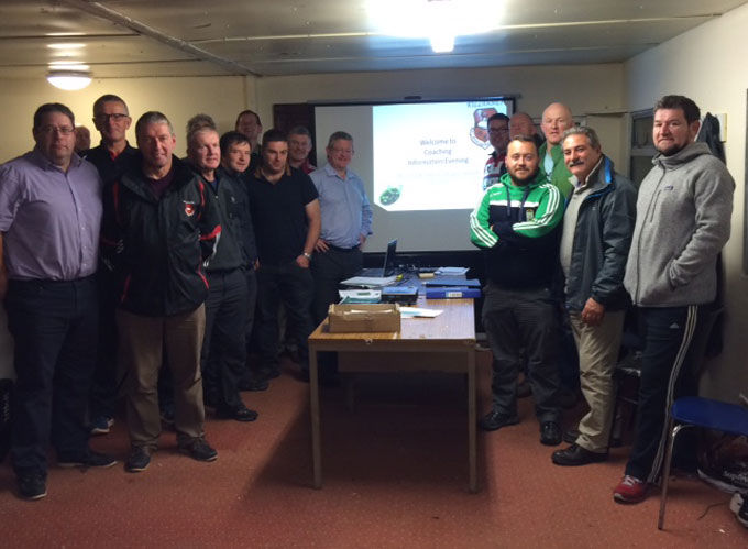 Coaches and committee members at our recent Coach workshop. Pic: R. Gadsen