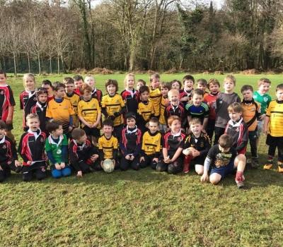 Killarney RFC Minis welcome Tralee and Abbeyfeale kids