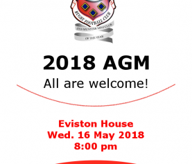 AGM NOTICE – 16TH MAY 2018