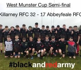 U14s Win West Munster Cup Semi-Final