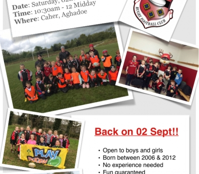 KRFC Minis Return on Saturday, 02nd of September