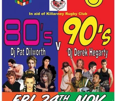 80's V 90's Night at the Grand on Fri 24th of November