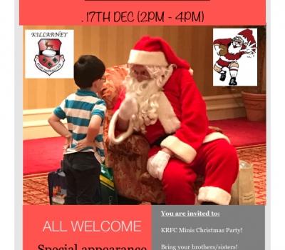 KRFC Minis host Kids Christmas Party this Sunday