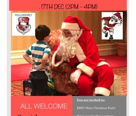 KRFC Minis host Kids Christmas Party this Sunday
