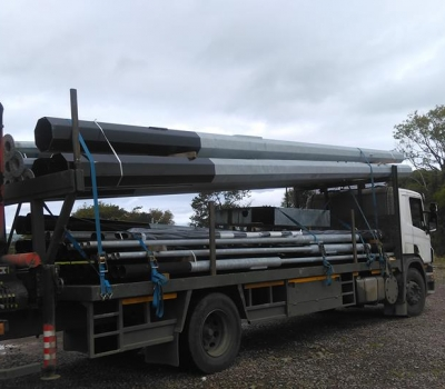 New Lighting Poles on site