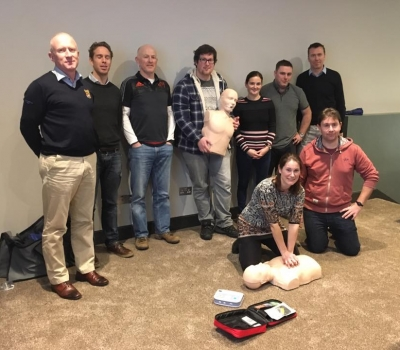 KRFC Coaches undertake First aid course