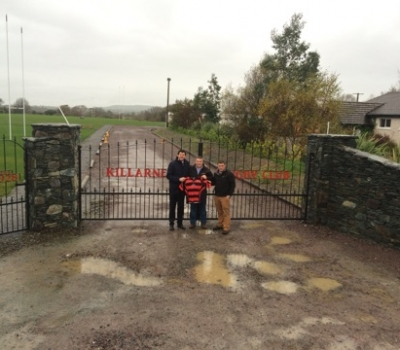 Shane Horgan visits Killarney RFC New Pitch